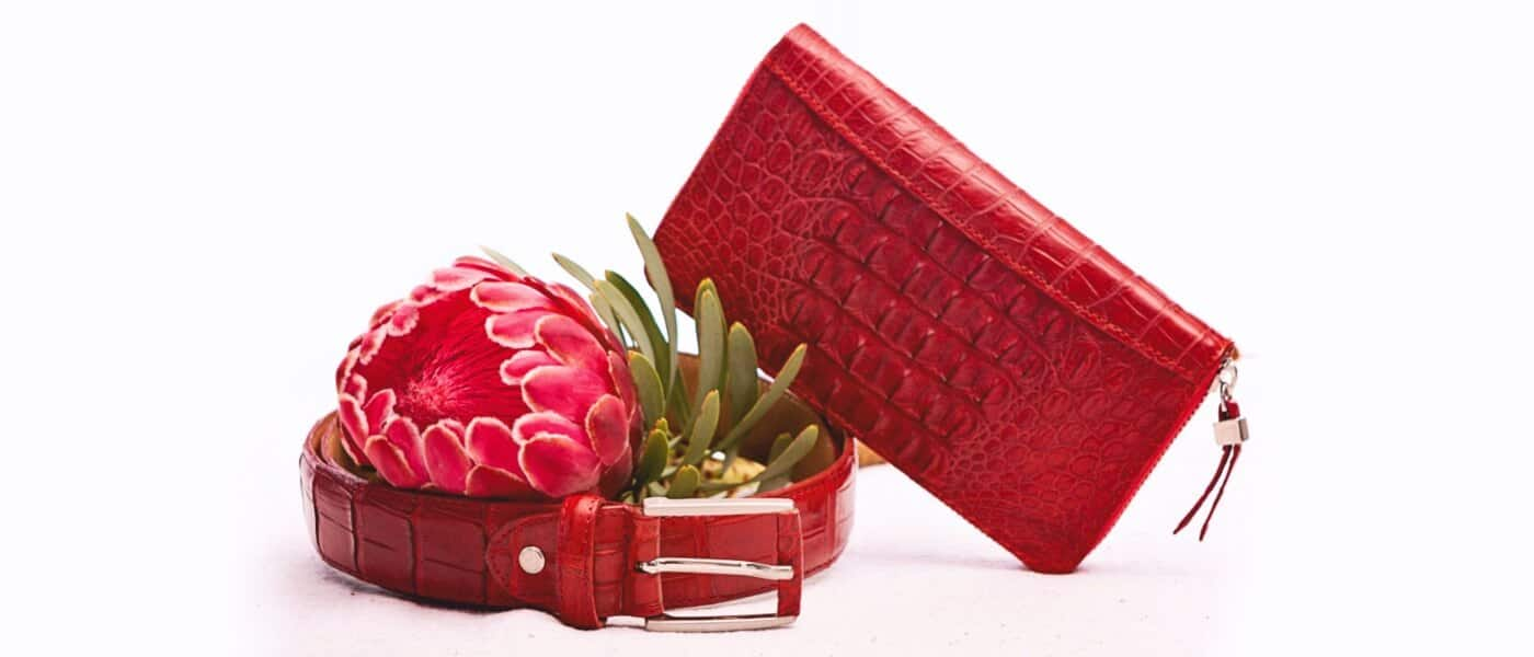 Red leather products - Le Bonheur